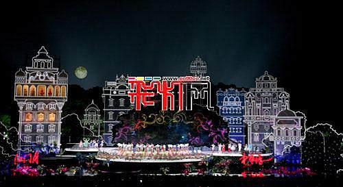 自贡彩灯搭台2011央视中秋晚会