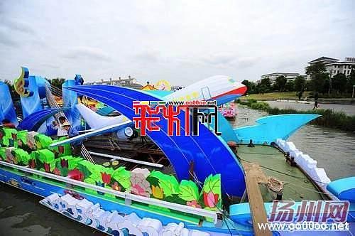 """2011运博会16只花船""""初露芳容"""""""