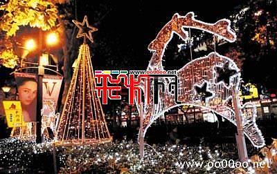2011圣诞彩灯扮亮姑苏夜