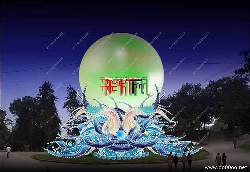 2012自贡第十八届自贡国际恐龙灯会设计图纸-水晶龙宫主景区之龙珠主景灯