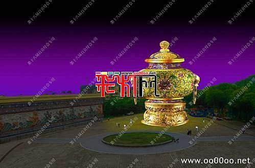 2012自贡第十八届自贡国际恐龙灯会设计图纸-中华神韵主景区之华夏瑰宝