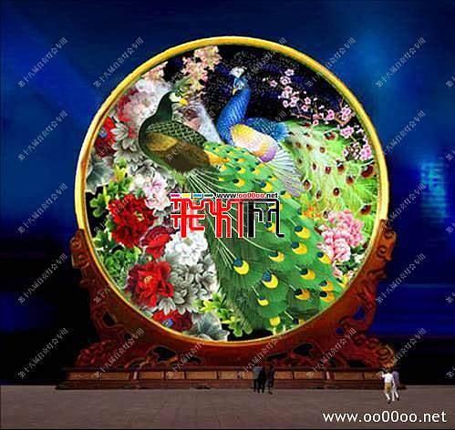 2012自贡第十八届自贡国际恐龙灯会设计图纸-中华神韵主景区之富贵中华