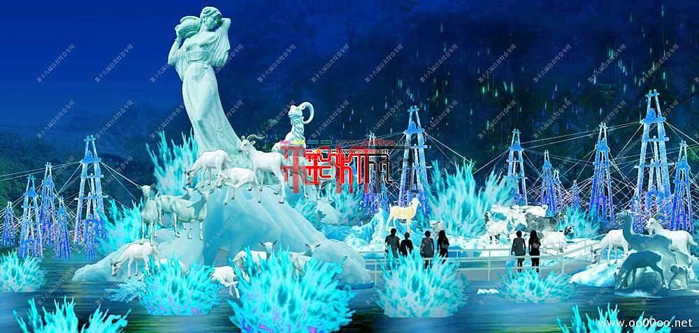 2012自贡第十八届自贡国际恐龙灯会设计图纸-盐都传说主景区之盐泉