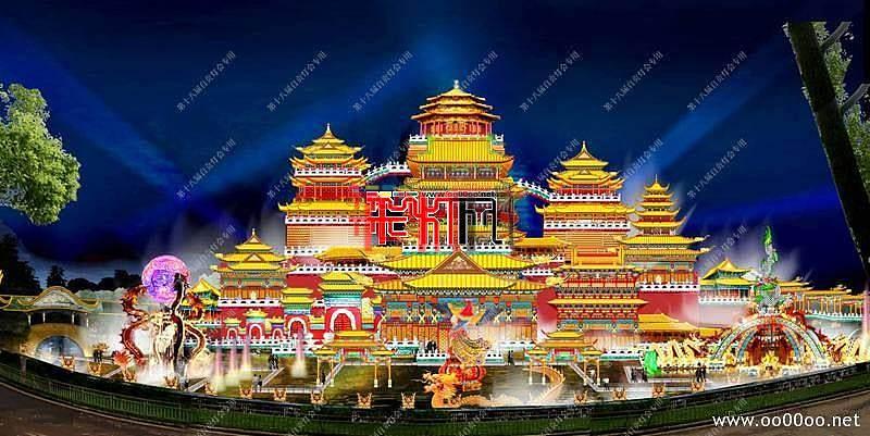 2012自贡第十八届自贡国际恐龙灯会设计图纸-龙飞凤舞主景区