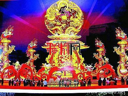 2012绵阳龙年灯会,灯艺师傅进场 扎制龙年花灯