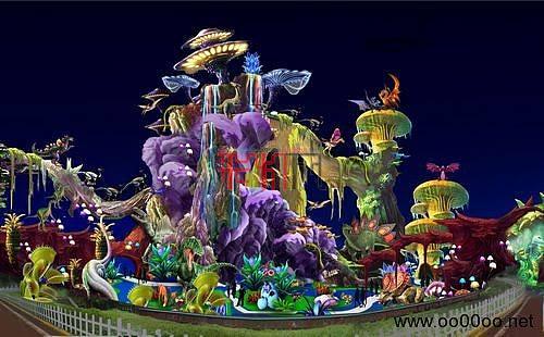 2013年第十九届自贡国际恐龙灯会图纸-恐龙乐园主景区