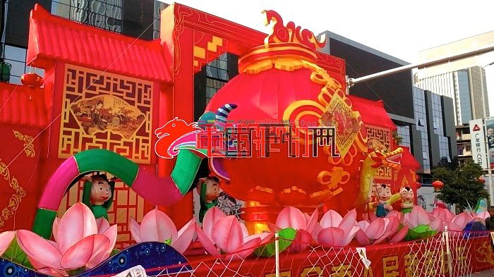 2014年福州元宵网上观花灯 榕城貌(台江花灯展区)