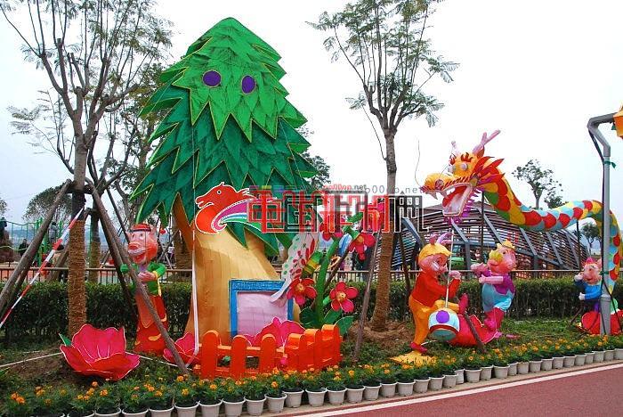 2014年福州元宵网上观花灯 马年味(马尾花灯展区)