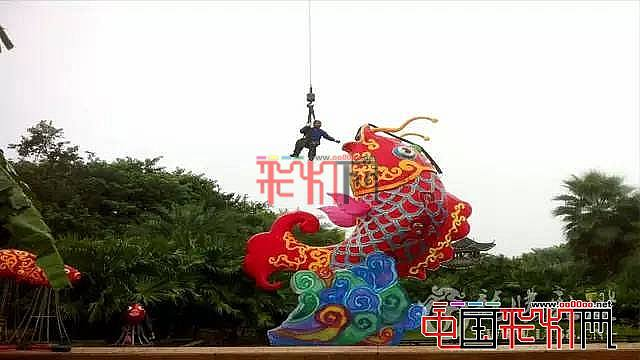 """广西最大型灯会的""""光影传奇""""园博园盛况空前的彩灯盛宴"""