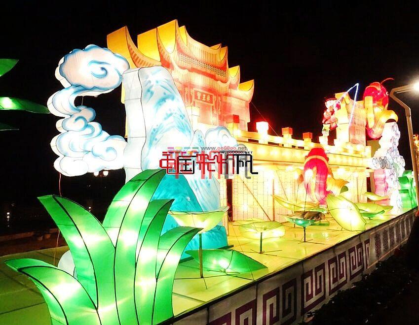 网上观灯-2016福州灯会马尾灯区夜景