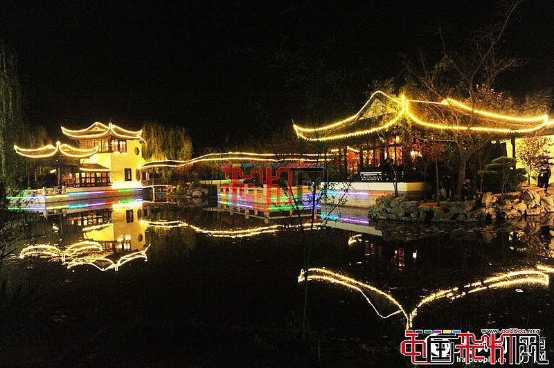 2016郑州绿博园梦幻灯光节点亮最绚夜晚