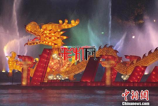 吉林松花江彩灯节将创中国河灯之最