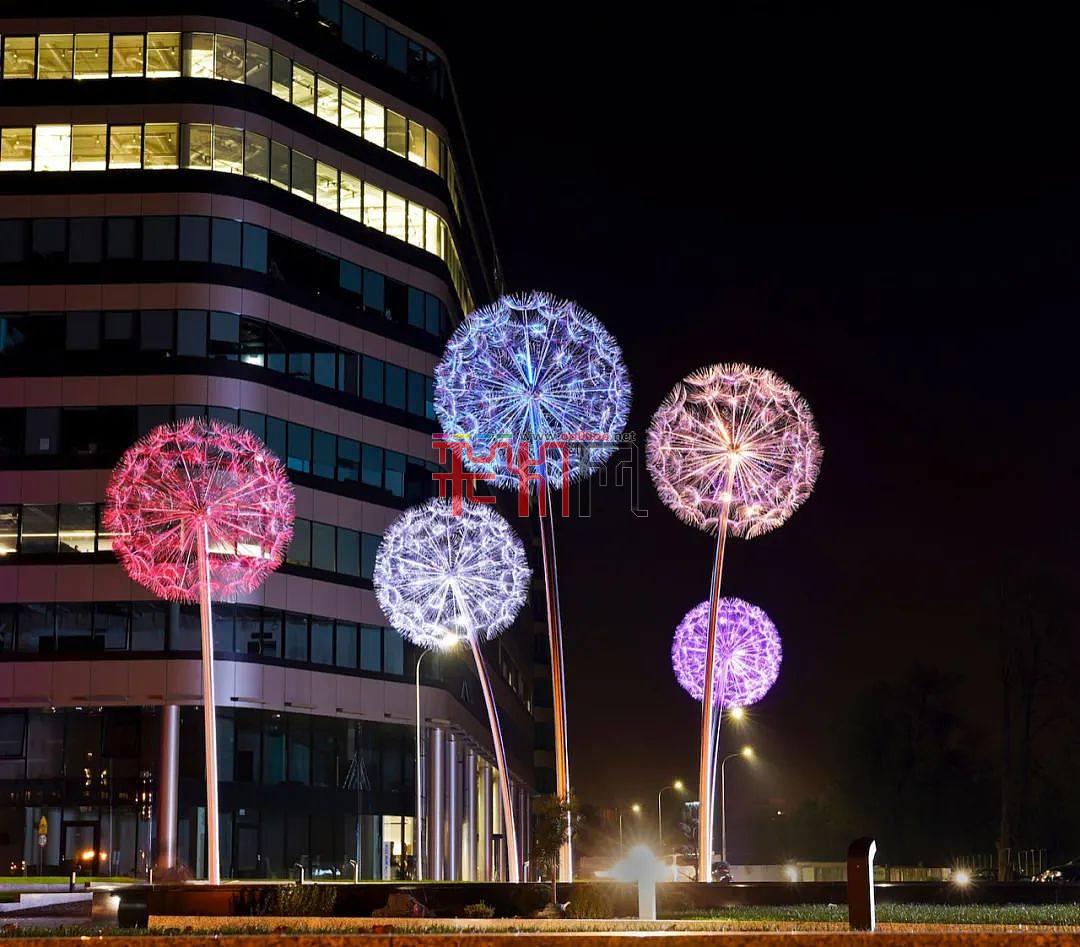 泡泡森林灯光艺术装置  Bubble Forest