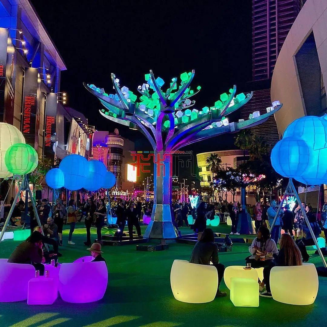 美国旧金山金门公园灯光艺术装置