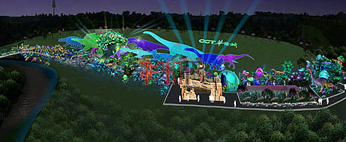 2021年第27届自贡国际恐龙灯会设计图抢先看