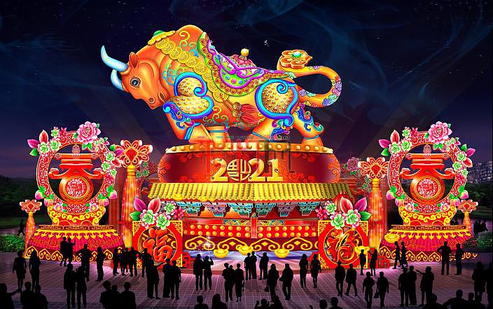 2021洋沙湖新春魅力灯展
